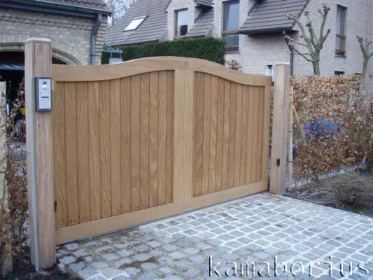 Prijsaanvraag houten poorten.
